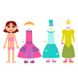 clothes for little princesses vector image vector image