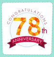 Colorful polygonal anniversary logo 3 078