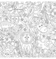 coloring seamless pattern with jungle animals vector image