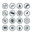 company icons universal set vector image vector image