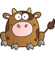 Cow Cartoon Mascot Character vector image vector image