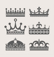 crown heraldic royal icons vector image