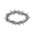 crown of thorns antique tool for pain retro vector image