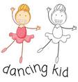doodle girl dancing ballet
