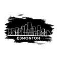 edmonton canada city skyline silhouette hand vector image vector image