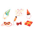 elements and accessories for party masquerade vector image vector image