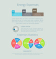 energy expenses statistics vector image