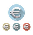 euro sign on white background vector image vector image