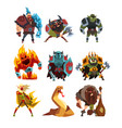 fantasy creatures and humans orc warrior in vector image