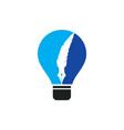 feather bulb logo design vector image vector image