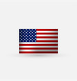 flat and waving american flag vector image vector image