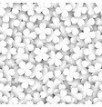 four-leaf clover as a white texture concept 3d vector image vector image