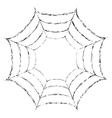 Frame of a spider web on white background