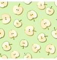 Fresh green organic apples seamless pattern vector image vector image