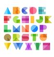Geometric shapes alphabet letters vector image vector image