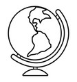 globe icon outline line style vector image vector image