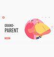 grandparents landing page template senior married vector image