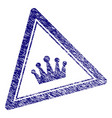 grunge textured crown triangle stamp seal vector image vector image