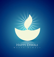 happy diwali design vector image vector image
