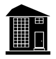 High house icon outline style vector image vector image
