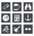 Icons for Web Design and Mobile Applications set 4 vector image vector image