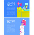 interactive reality fun set vector image vector image