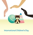 International Childrens Day concept vector image vector image