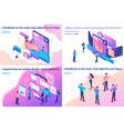 isometric article bright concept vector image vector image