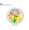 karadordeva snicla one of the most famous dish of vector image vector image