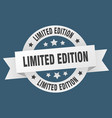 limited edition ribbon limited edition round vector image vector image