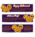 magic halloween party horizontal banners vector image vector image
