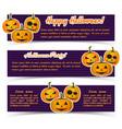 magic halloween party horizontal banners vector image vector image