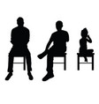 man and child silhouette sitting set vector image vector image