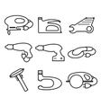 Mechanics Tools icons modern line style Element vector image