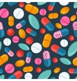 Medical seamless pattern with pills and capsules vector image vector image