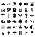 mitten icons set simple style vector image vector image
