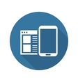 Mobile Surfing Icon Flat Design vector image vector image