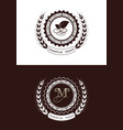 monogram luxury with decorative frame vector image vector image