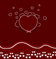 mothers day red hearts vector image vector image