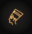 nefertiti queen icon in glowing neon style vector image
