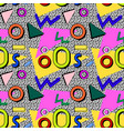 pattern memphis 80s vector image vector image