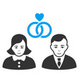 people marriage flat icon vector image vector image