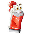 Red color in tube with face vector image vector image