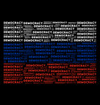 russia flag collage of democracy texts vector image