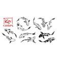 set koi carps japanese fish korean animals vector image vector image