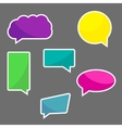 Set of chat icons speach bubbles vector image vector image
