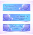 shiny greeting romantic horizontal banners vector image vector image