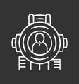 shooting aim chalk icon virtual video game vector image vector image