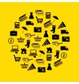 shopping icons in circle vector image vector image