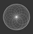 spirograph element on black background abstract vector image vector image